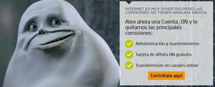 Cuenta on de bankia sin comisiones y online for Bankia oficina online
