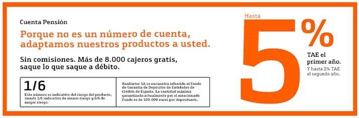 Ventajas cuenta pensión Bankinter