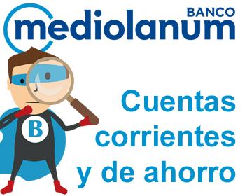 Cuentas del banco Mediolanum