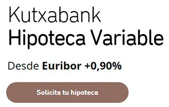 hipoteca tipo variable Kutxabank