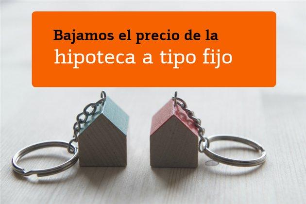 Hipoteca fija Bankinter baja interés
