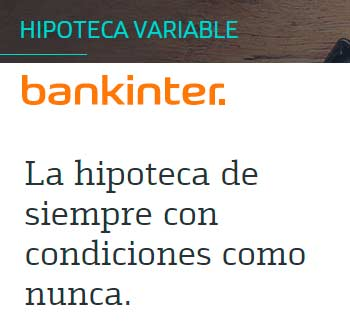 hipoteca variable Bankinter