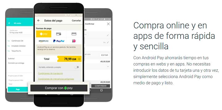 pagos online con Android Pay
