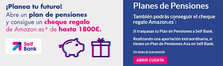 cheque regalo amazon planes en self bank