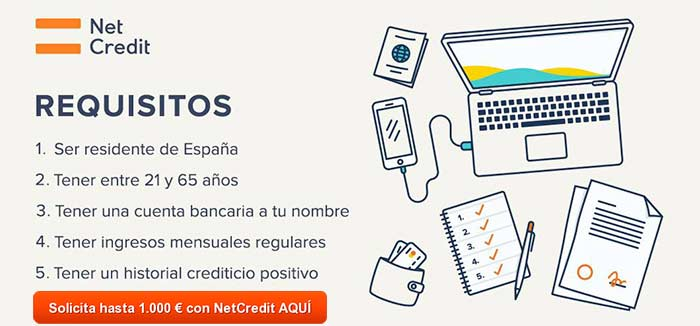 requisitos préstamos NetCredit