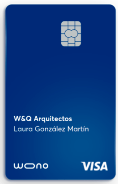 Tarjeta para empresas Wono del Santander