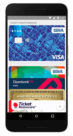 Tarjetas en Android Pay